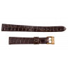 Longines croco strap 13 mm with gold plated buckle