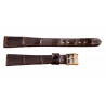 Longines croco strap 14 mm with gold plated buckle