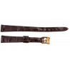 Longines croco strap 12 mm with gold plated buckle