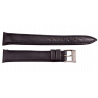 Longines leather strap with steel buckle 17 mm