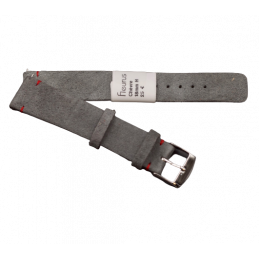 Nubuc strap with steel pin...