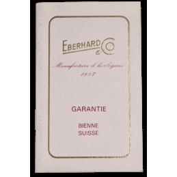 Eberhard blank guarantee card