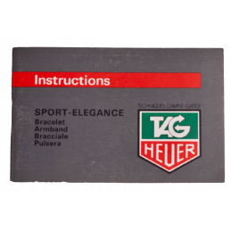 Tag Heuer instructions...