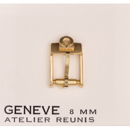 Omega boucle plaquée or 8 mm