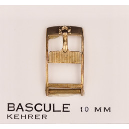 Omega boucle plaquée or 10 mm