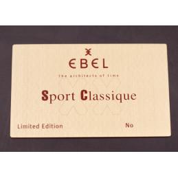 Plaque de présentation Ebel