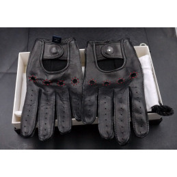 Montblanc leather gloves...