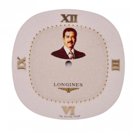 Saddam Hussein Longines dial