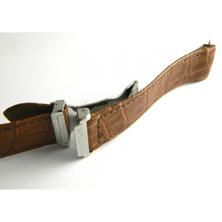 BOUCHERON brown croco strap 22mm with deployant buckle