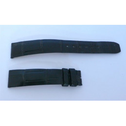 Crocodile black strap Baume & Mercier - 16 mm