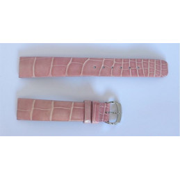 Baume & Mercier crocodile pink strap with buckle - 16 mm
