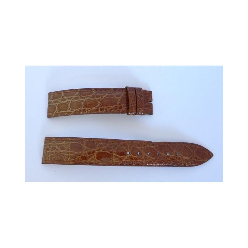 Bracelet Baume & Mercier cuir marron - 17 mm