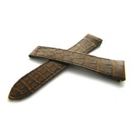 bracelet BOUCHERON croco marron 19mm