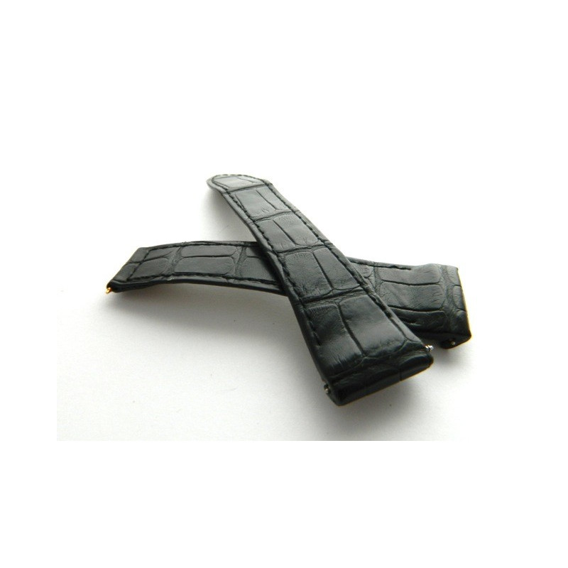 bracelet BOUCHERON croco noir  22mm