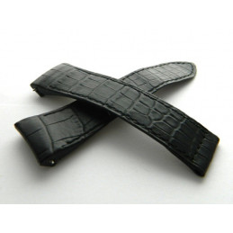 BOUCHERON black croco strap 24mm, small scale