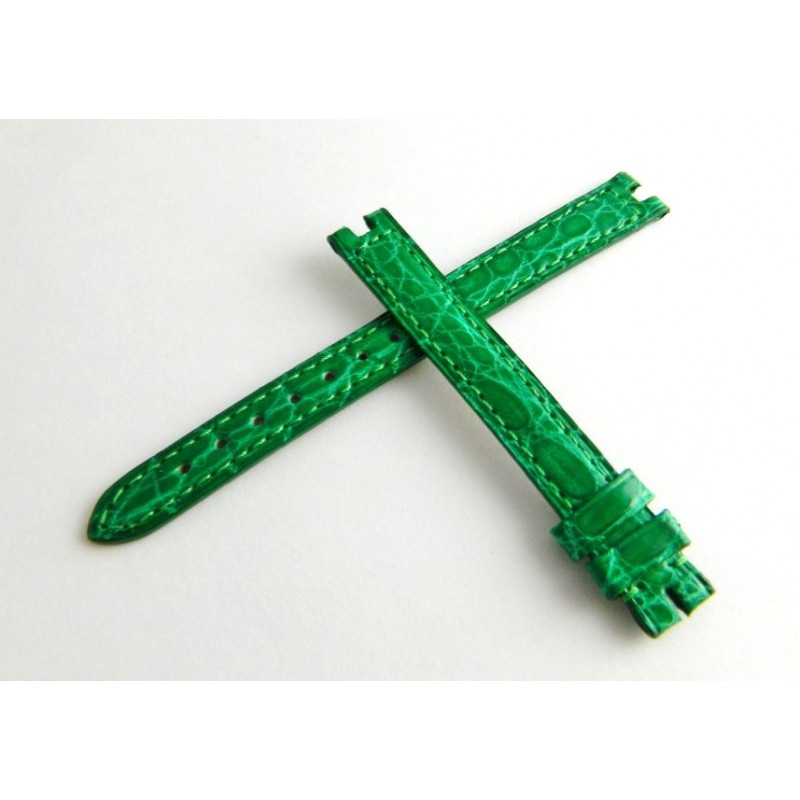 Bracelet caïman brillant vert CARTIER 11mm