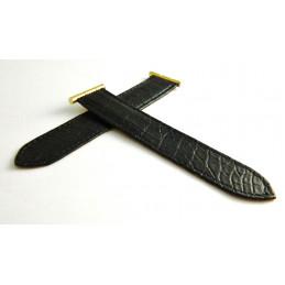 Bracelet croco noir BOUCHERON - L - Reflet
