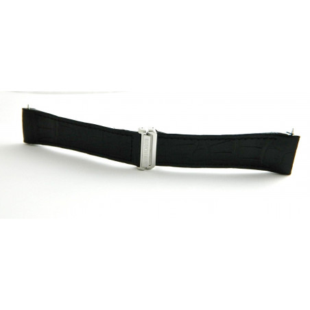 BOUCHERON Crocodile black strap with déployant buckle 24mm