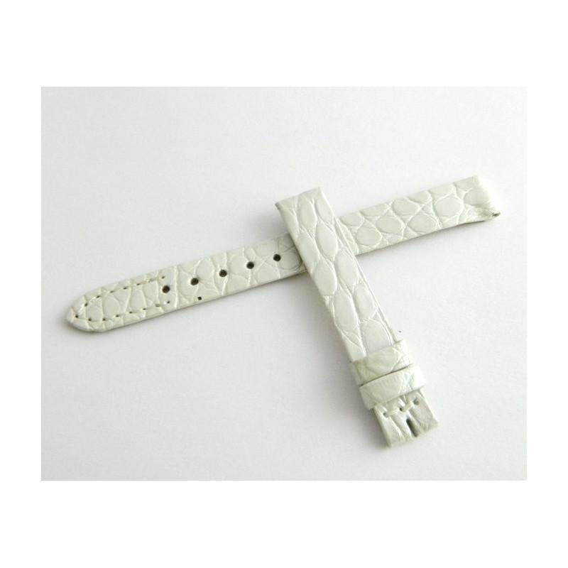 Bracelet crocodile blanc JAEGER LECOULTRE 10mm