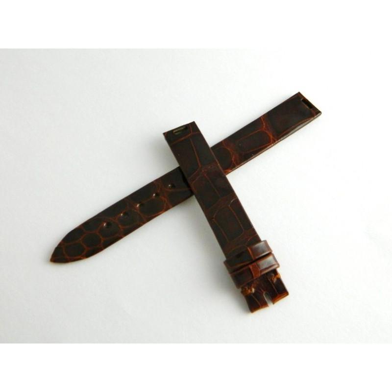 Bracelet crocodile marron brillant PIAGET 12mm