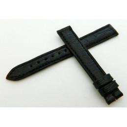 Bracelet crocodile noir JAEGER LECOULTRE 13mm