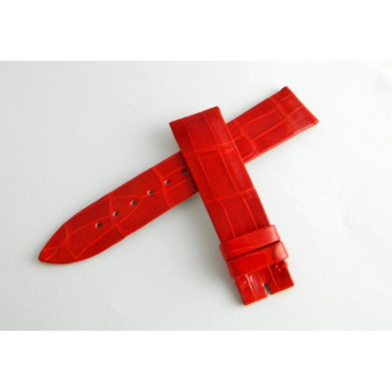 Bracelet crocodile rouge brillant PIAGET 18mm