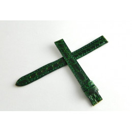 Bracelet crocodile vert brillant CARTIER 10mm