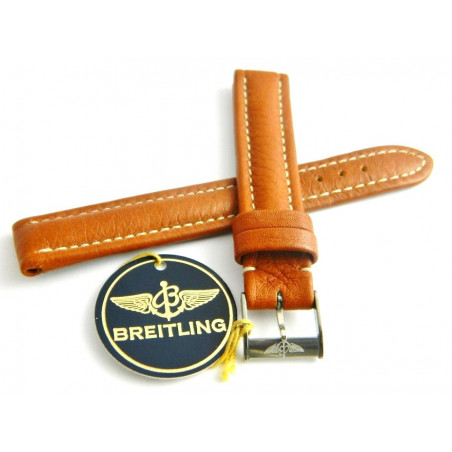BREITLING Brown leather strap 15/14mm