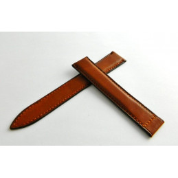 BRY Brown leather strap 18mm