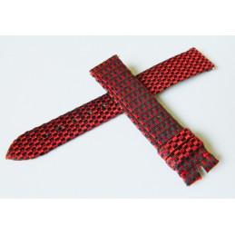 Bracelet damier noir et rouge MAUBOUSSIN 17mm