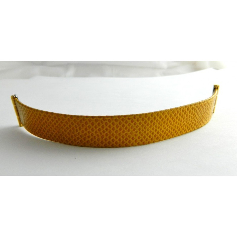 Bracelet lézard marron clair BOUCHERON 15cm