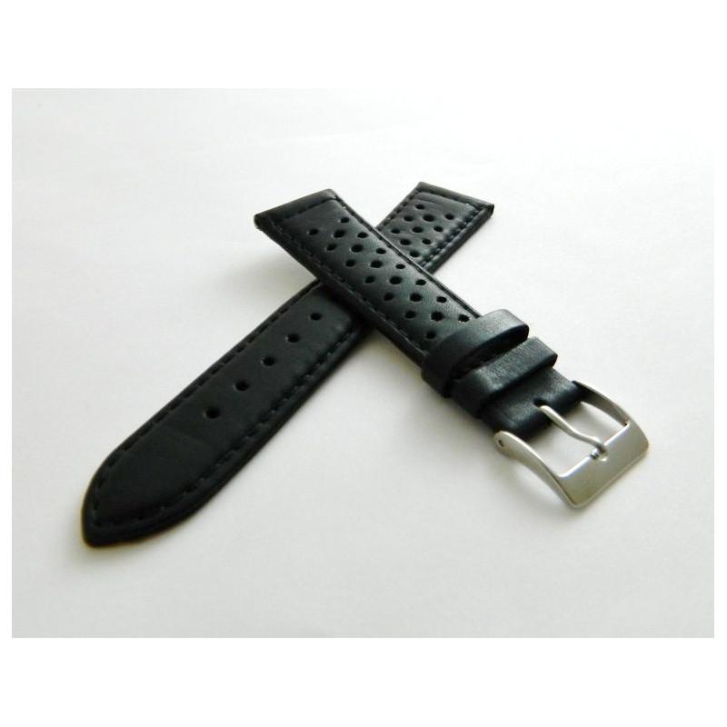 Bracelet nubuc noir 20mm