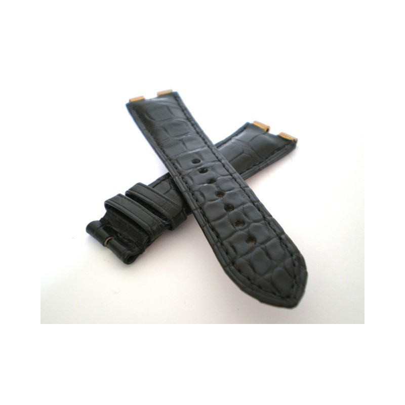 Bracelet PIAGET croco noir 21mm