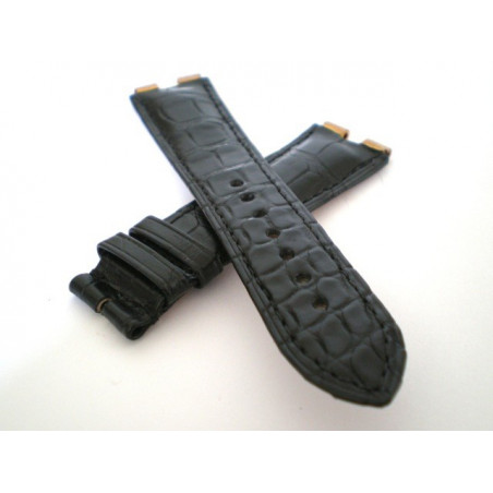 PIAGET strap black croco 21mm