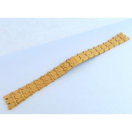 Bracelet plaqué or UNIVERSAL GENEVE 14mm