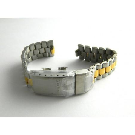 bracelet ZODIAC acier/doré 16mm