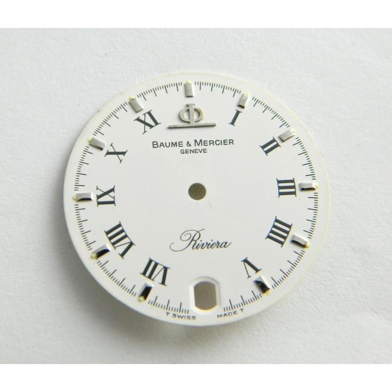 Cadran Blanc BAUME & MERCIER Riviera 26mm
