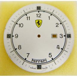 Cadran blanc FERRARI