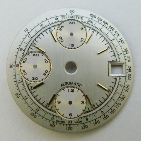 White dial for Valjoux 7750 chronograph - 29.50mm