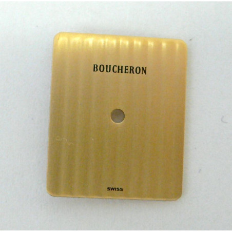 Rectangular champagne REFLET BOUCHERON dial - 15,26x18mm