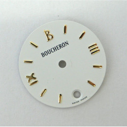 Round white SOLIS BOUCHERON dial - 20mm