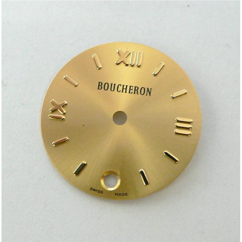 cadran Boucheron SOLIS champagne rond avec dateur - 23mm