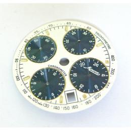 Cadran chrono MINERVA diametre 29,55mm