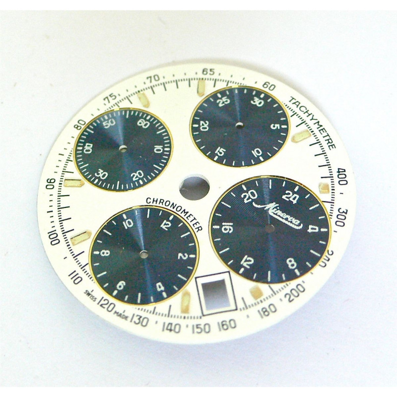 Cadran chrono MINERVA diametre 29,55mm