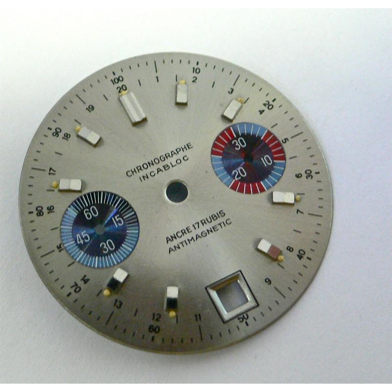 Cadran chronographe générique - diamètre 30 mm pour Valjoux 7734