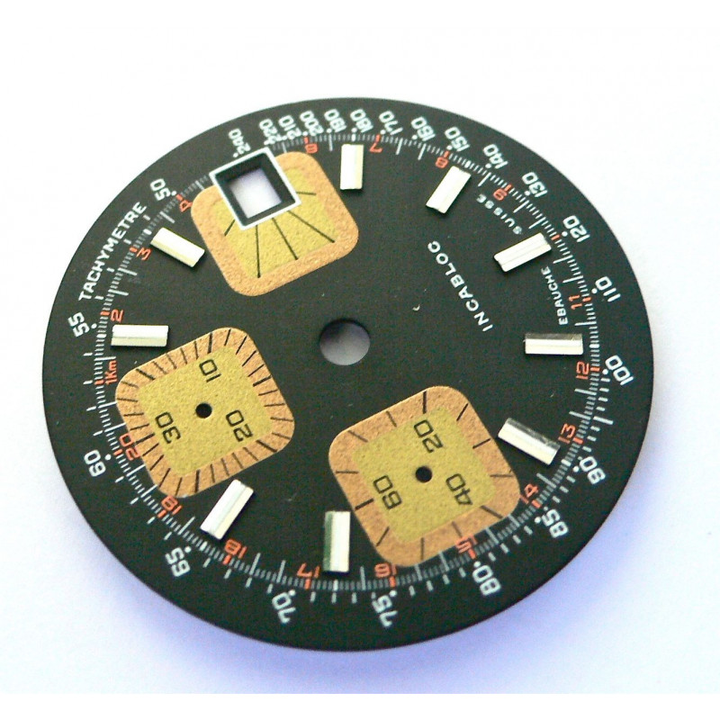 Cadran chronographe valjoux 7765 or 7754 - diamètre 31,5 mm