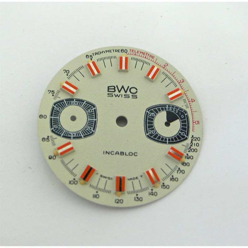 Cadran de chronographe BWC pour valjoux 7733 - diamètre 28 mm