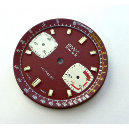 Cadran de chronographe BWC pour valjoux 7733 - diamètre 30,52 mm avec réhaut