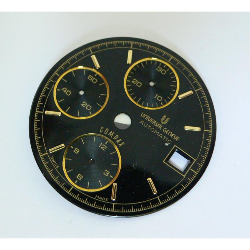 Cadran de chronographe UNIVERSAL GENEVE COMPAX - diamètre 29,6 mm