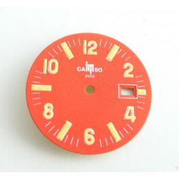 Cadran de Lip ancien orange - diamètre 26,58 mm